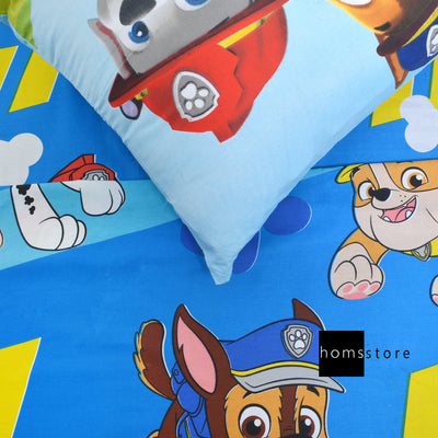 Paw Petrol Dog characters Single Bedsheet with Pillow case
