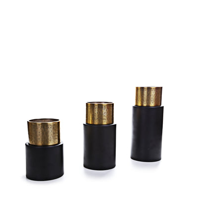 Votive Black Brass Candle Holder