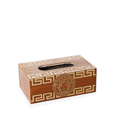 Versace Wooden Basket with Tissue Box