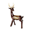 Brown Gold Deer Figures (Set of 2)