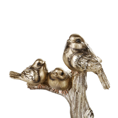 Golden 3 Sparrow Ornaments