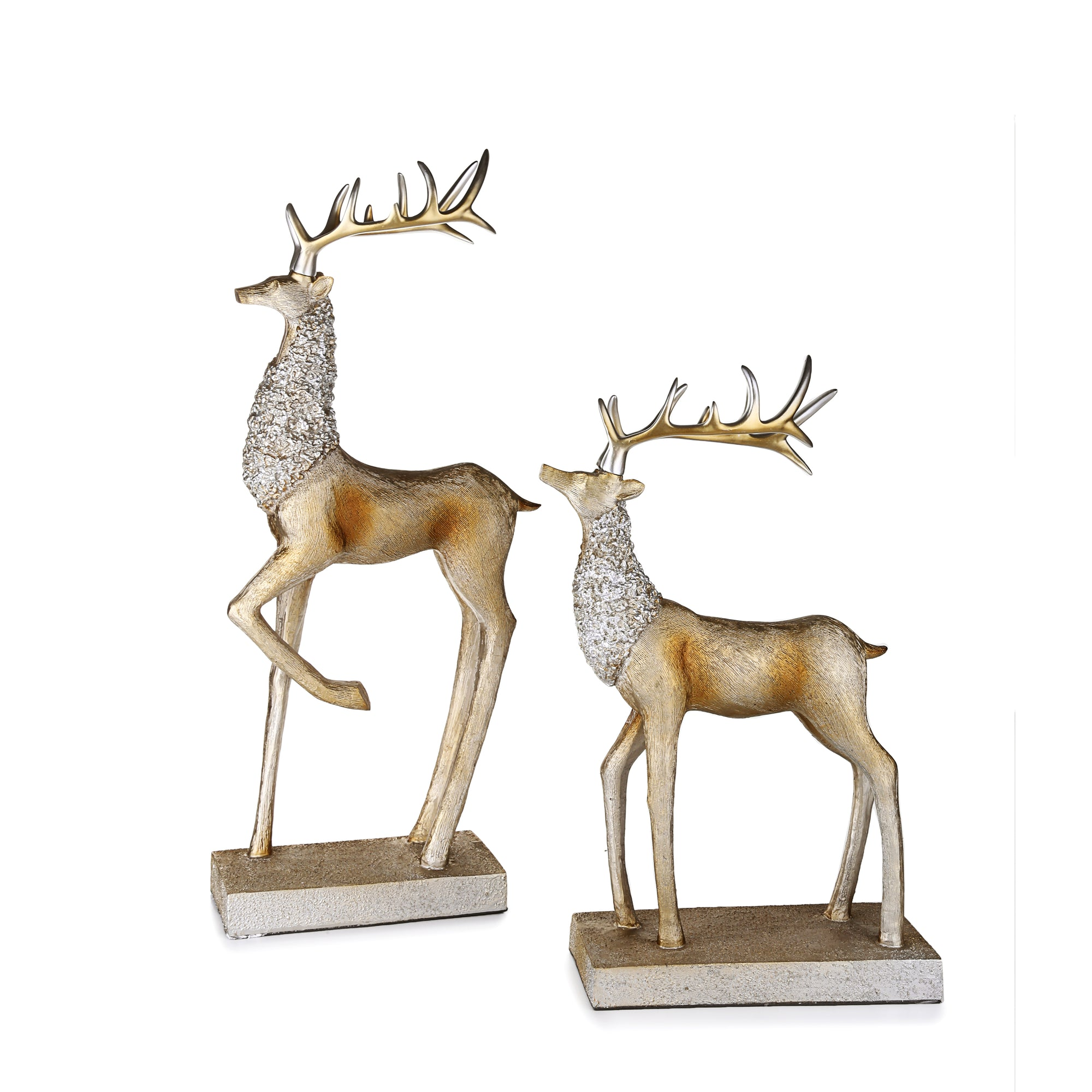 Silver deer Ornaments (Set of 2)