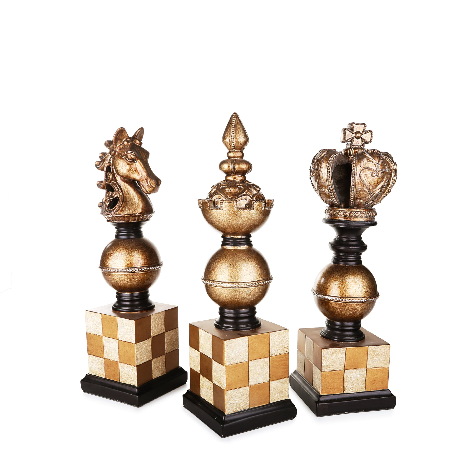 Chess Pieces Ornaments (Set of 3)