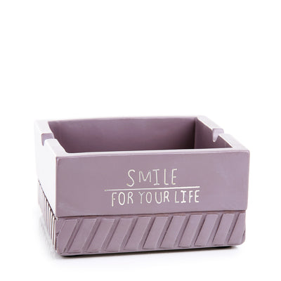 Gray Square Resin Ash Tray