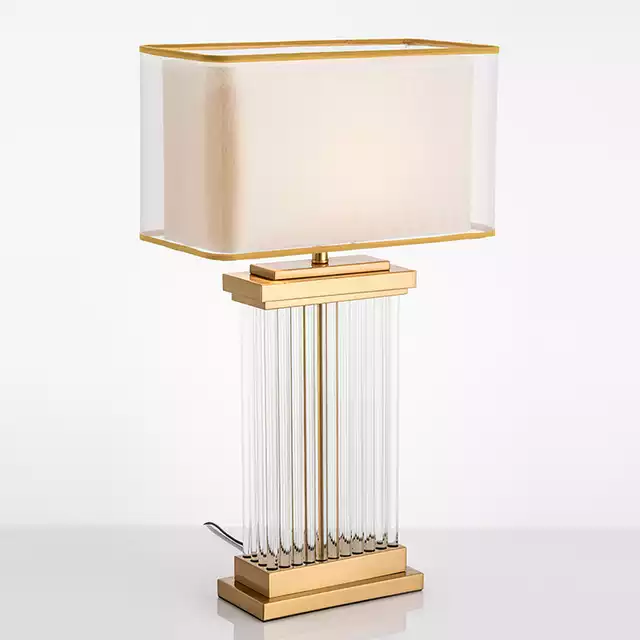 Modern Glass Bars Table Lamp