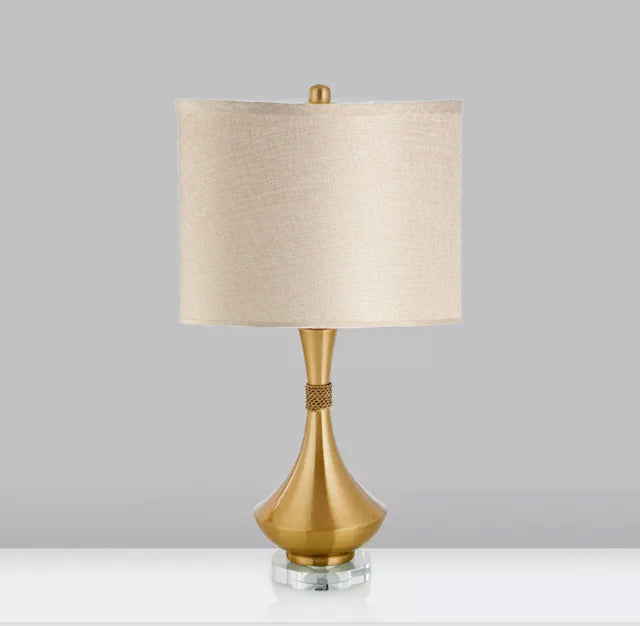 African Vase Brass Table Lamp
