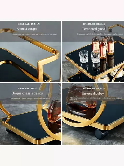 Golden Hlaf Rings Tea Trolley