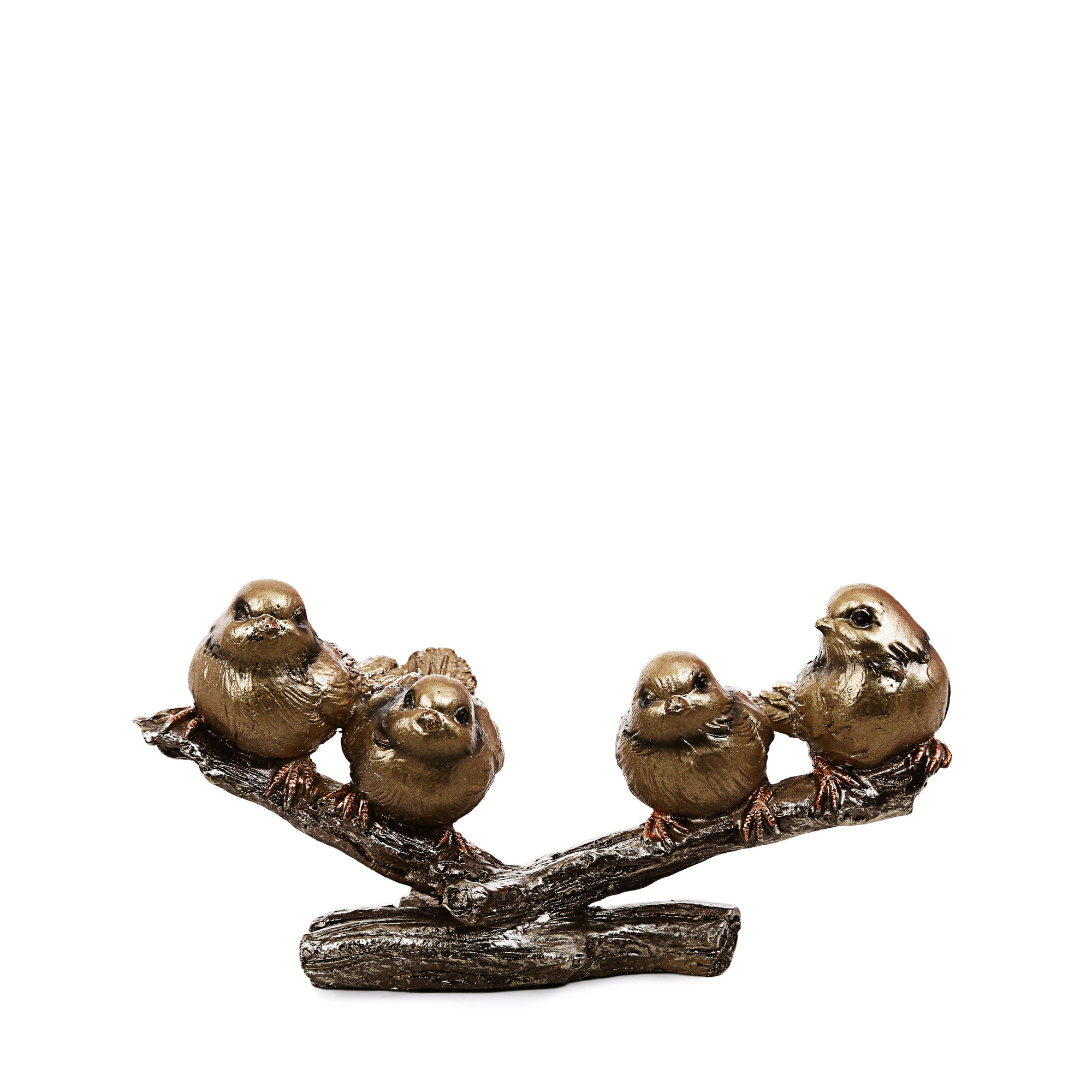 Golden 4 Sparrows Ornaments