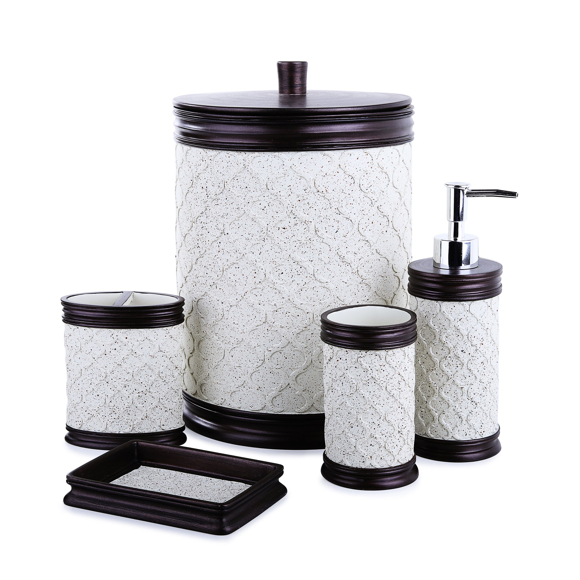 Texture Embossed Bath Accessories