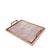 Leather Light weighted Wooden Tray (Tea Pink)