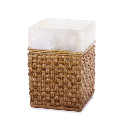 Golden Straps Embroidered Resin Bath Accessory