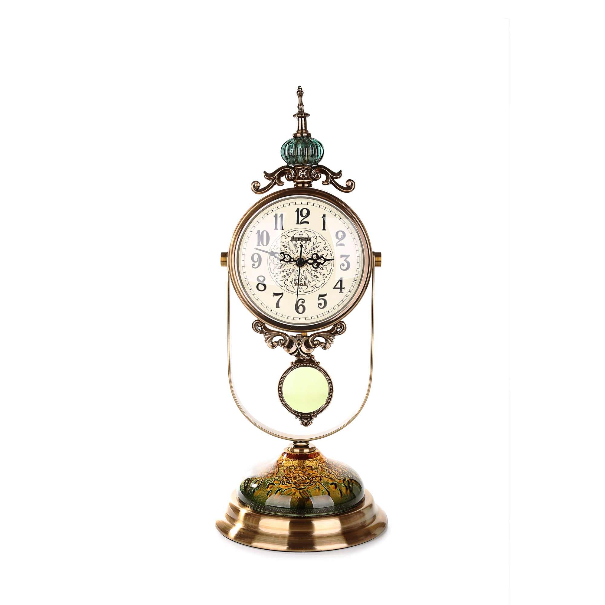 Ages Behind Antique Table Clock