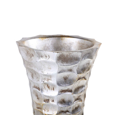 Hammered Ceramic Vase