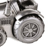 Silver Tractor Money Box