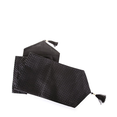 Square Design Table Runner (Black)