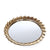 Round Leafs Edge Golden Mirror Tray