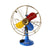 Retro Colorful Pedestal Fan Model