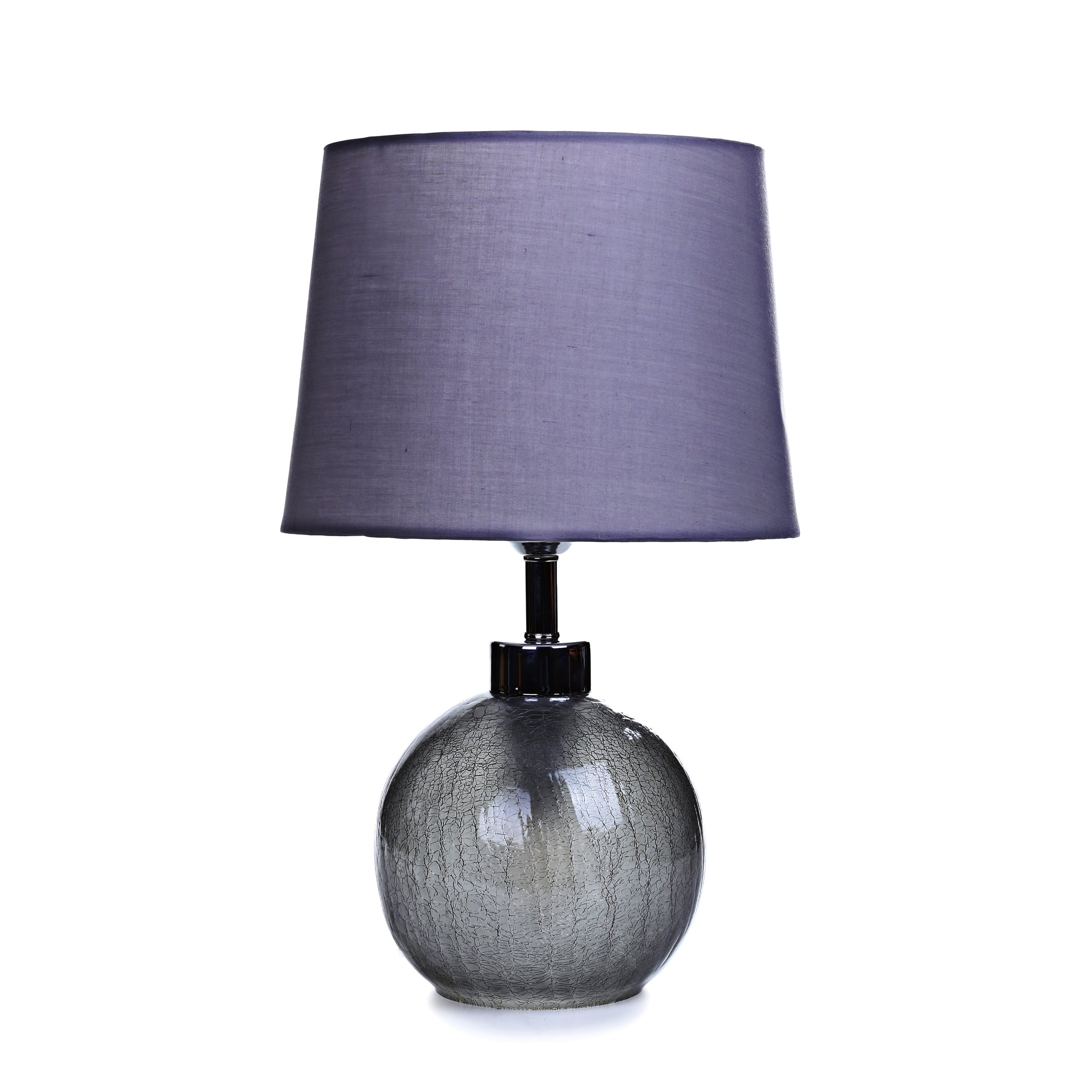 Crackle Glass Table Lamp (Dark Gray)