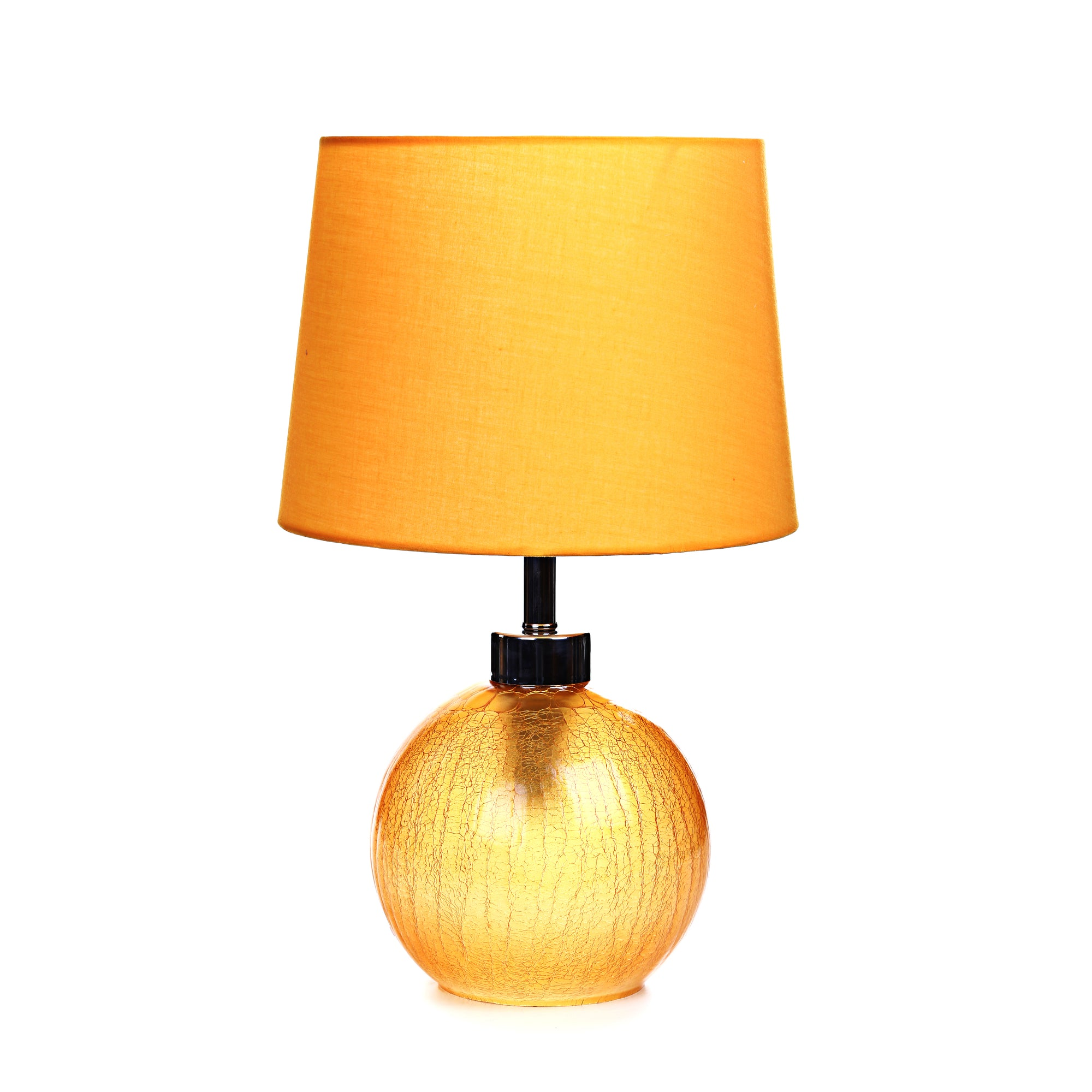 Crackle Glass Table Lamp (Yellow)