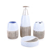Abstract Textured Bath Set (Blue)