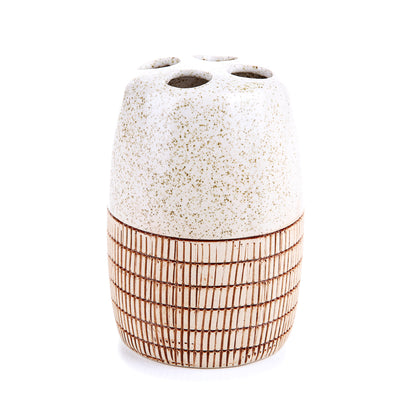 Abstract Textured Bath Set (Beige)