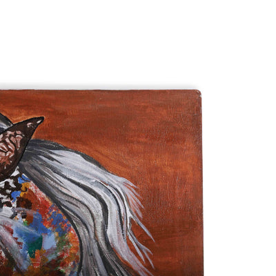 Epsilon Abstract Horse Canvas Painting