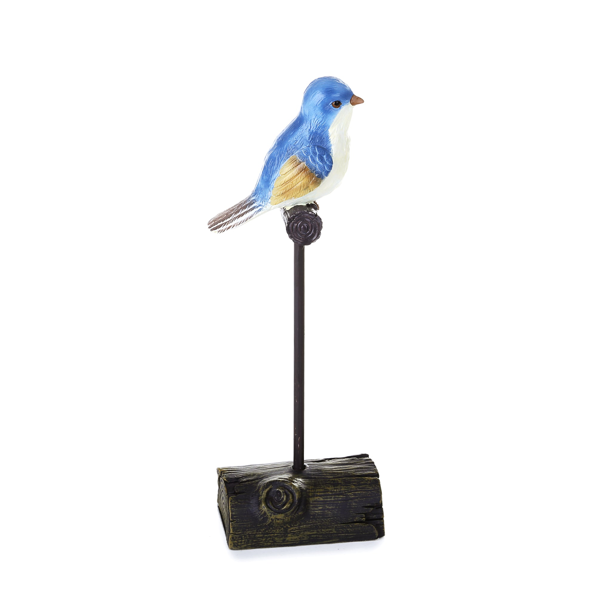 Small Blue Sparrow Statue