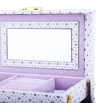 Engraved Design Sheeted Jewelry Box