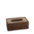 Rope Design Tissue Box (Dark Brown)