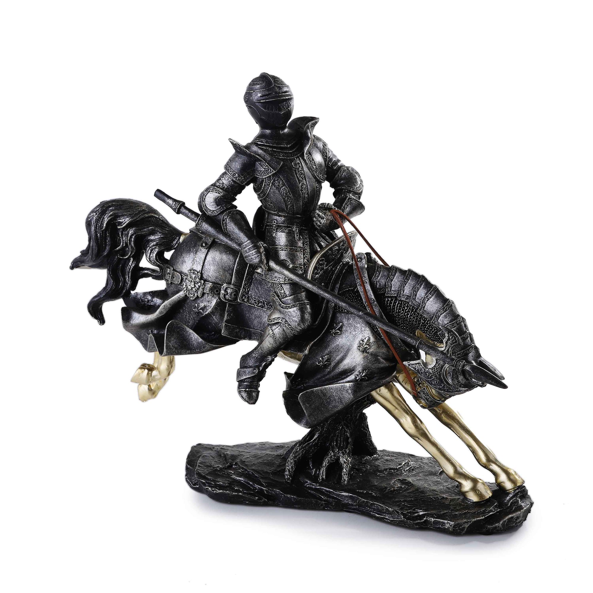 Vintage European Knight on Horse Statue
