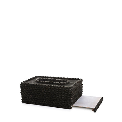 Rope Design Tissue Box (Black)