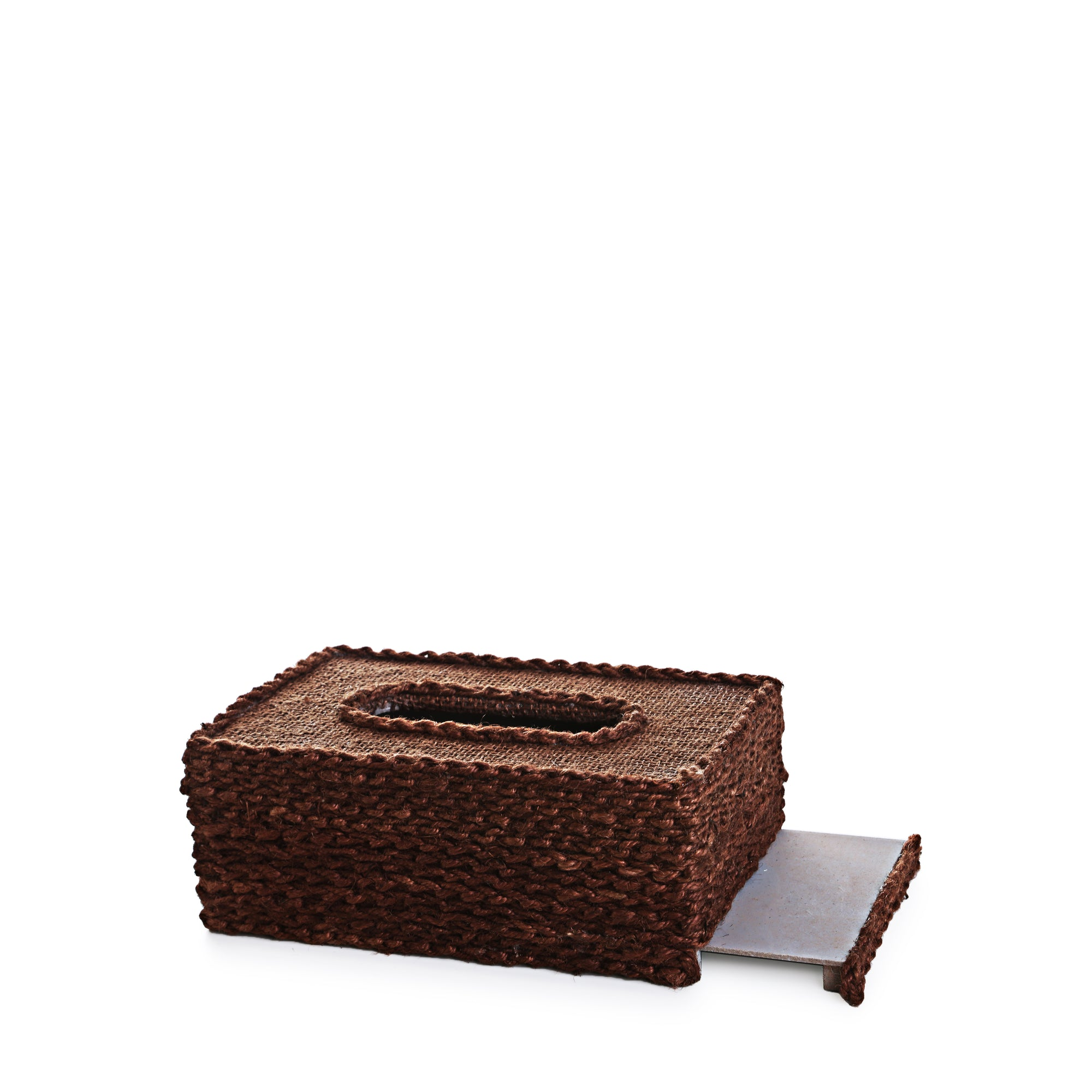 Rope Design Tissue Box (Chocolate Brown)