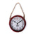 Rusty Wall Clock with Rope (Red)