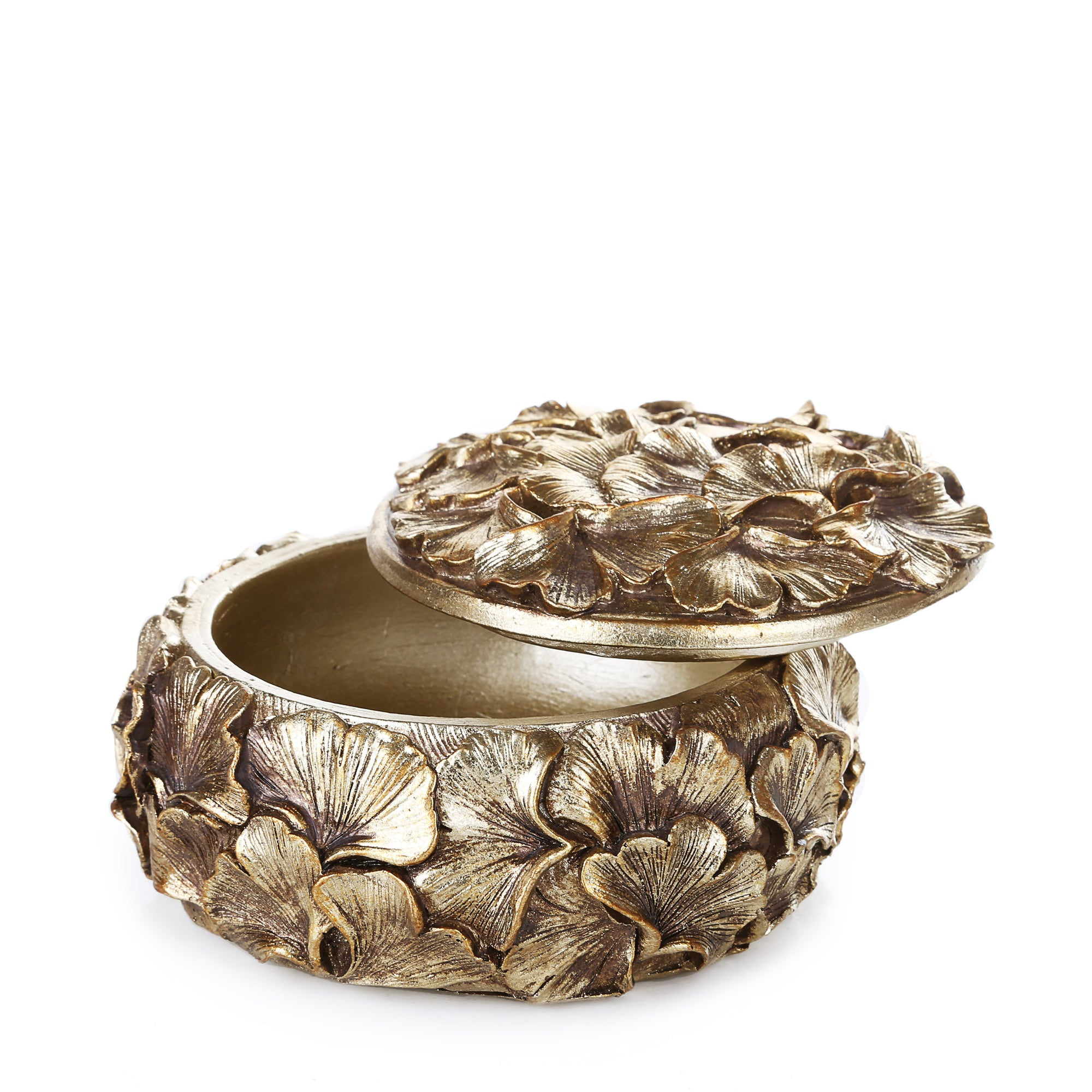 Round Petal Multi Purpose Box (Golden)