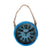 Rusty Wall Clock with Rope (Blue)