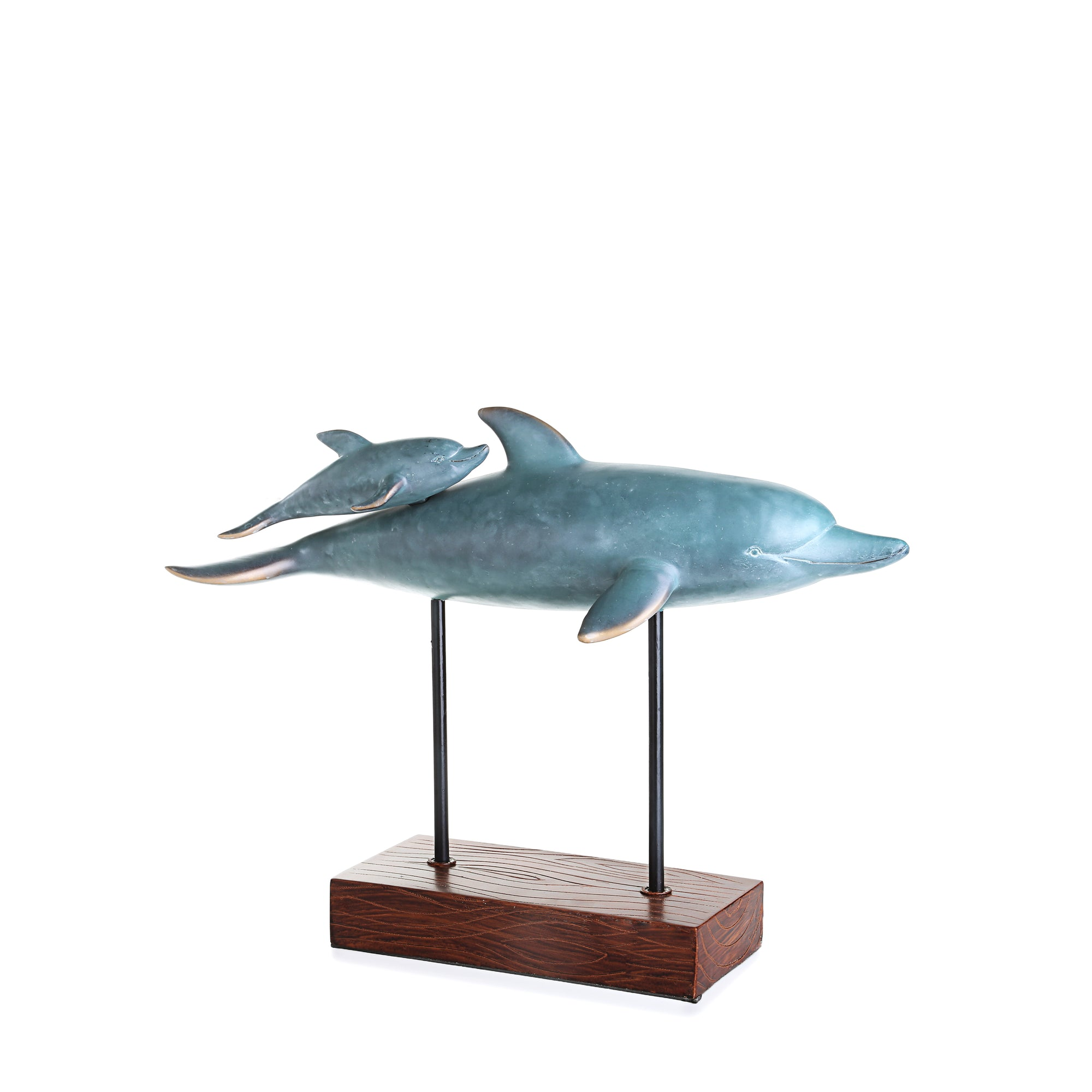 Dolphin with Baby Figurine