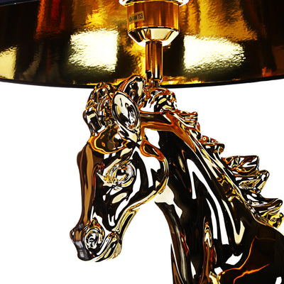 Golden & Shine Horse Lamp