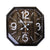 Octa Corners Rusted Wall Clock