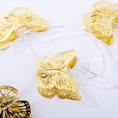 Golden Butterfly Hanging  Lights