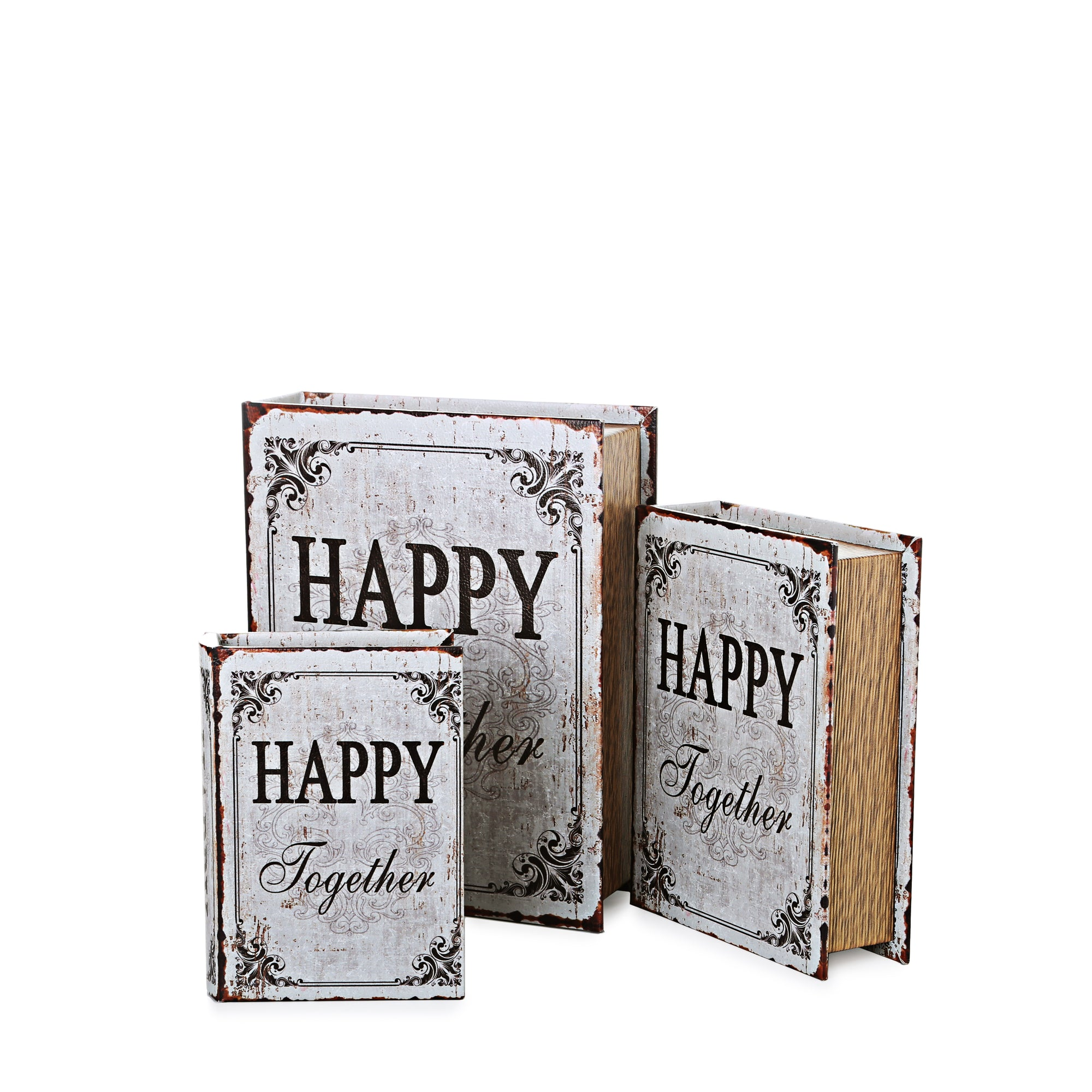 Happy Togather Books Storage Boxes (Set Of 3)