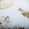 White & Gold Leafs Tray Set