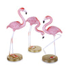 Pink Flamingo ornament Set