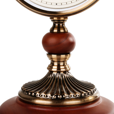 Royal Brass & Wood Table Clock