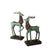 Green Deer Ornaments (Set of 2)