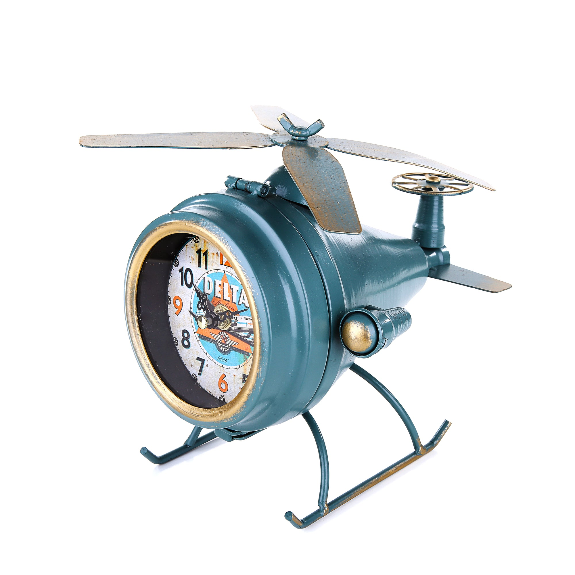 Chopper table Clock (Blue Green)