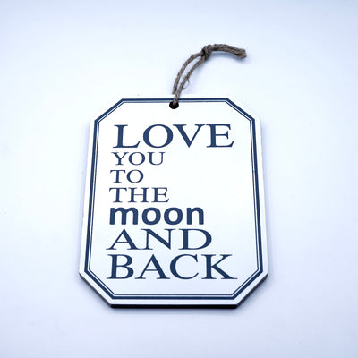 Loved the moon Wall Quotation