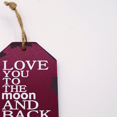 Love moon back Wall Quotation