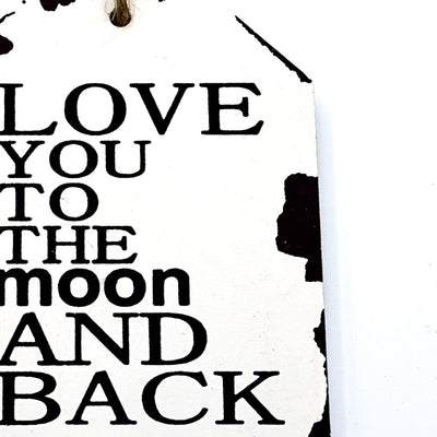 Love Moon Wall Quotation