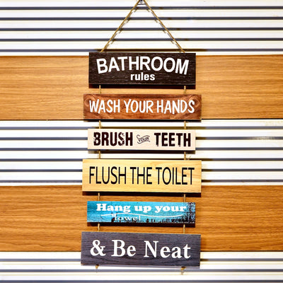 Bathroom Rules 2 cluster Wall Quotation