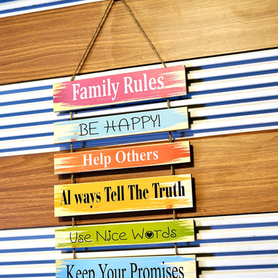 Family Rules Custer Wall Quotation